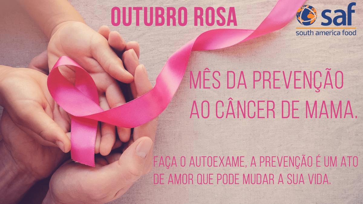 Mês da prevenção ao câncer de Mama. Faça o autoexame, a prevenção é um ato de amor que pode mudar a sua vida.